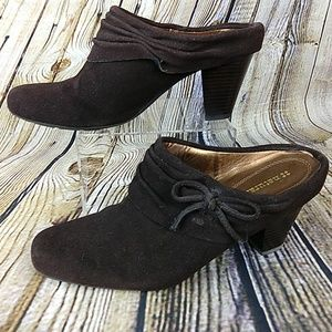 Naturalizer Brown Heeled Mule Size 8.5